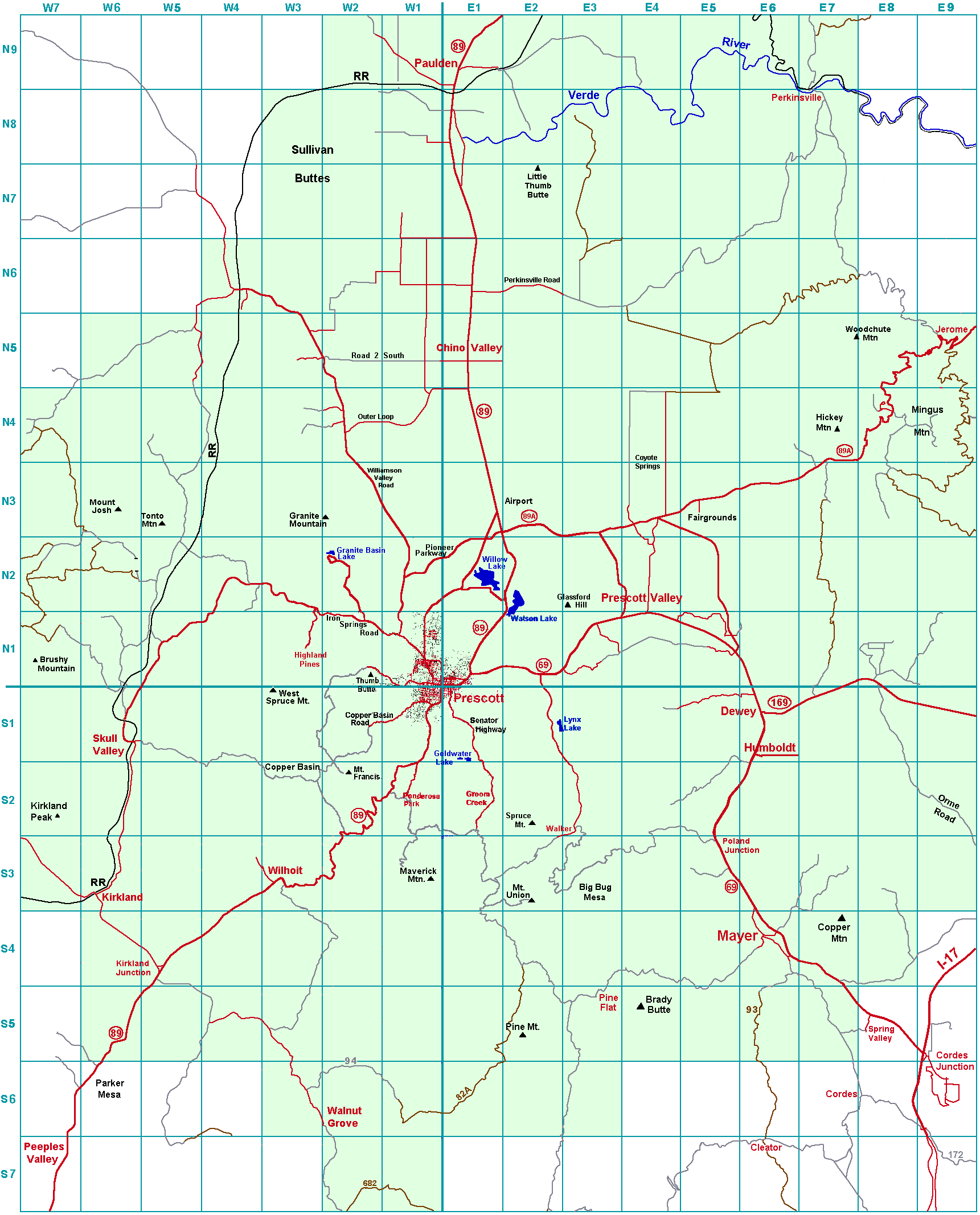 Trail maps index